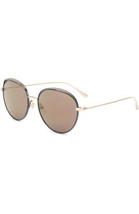 Женские солнцезащитные очки JIMMY CHOO черного цвета, арт. ELL0 PL0 | Фото 1