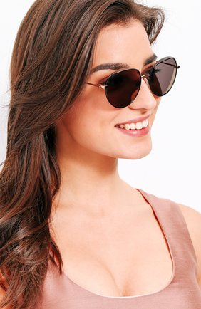 Женские солнцезащитные очки JIMMY CHOO черного цвета, арт. ELL0 PL0 | Фото 2