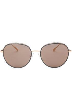 Женские солнцезащитные очки JIMMY CHOO черного цвета, арт. ELL0 PL0 | Фото 3