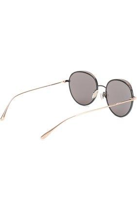 Женские солнцезащитные очки JIMMY CHOO черного цвета, арт. ELL0 PL0 | Фото 4