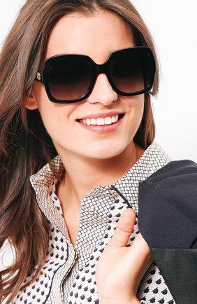 Женские солнцезащитные очки GUCCI черного цвета, арт. 0036 001 | Фото 2