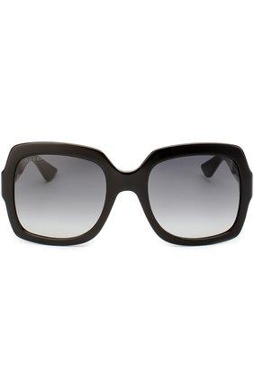 Женские солнцезащитные очки GUCCI черного цвета, арт. 0036 001 | Фото 3