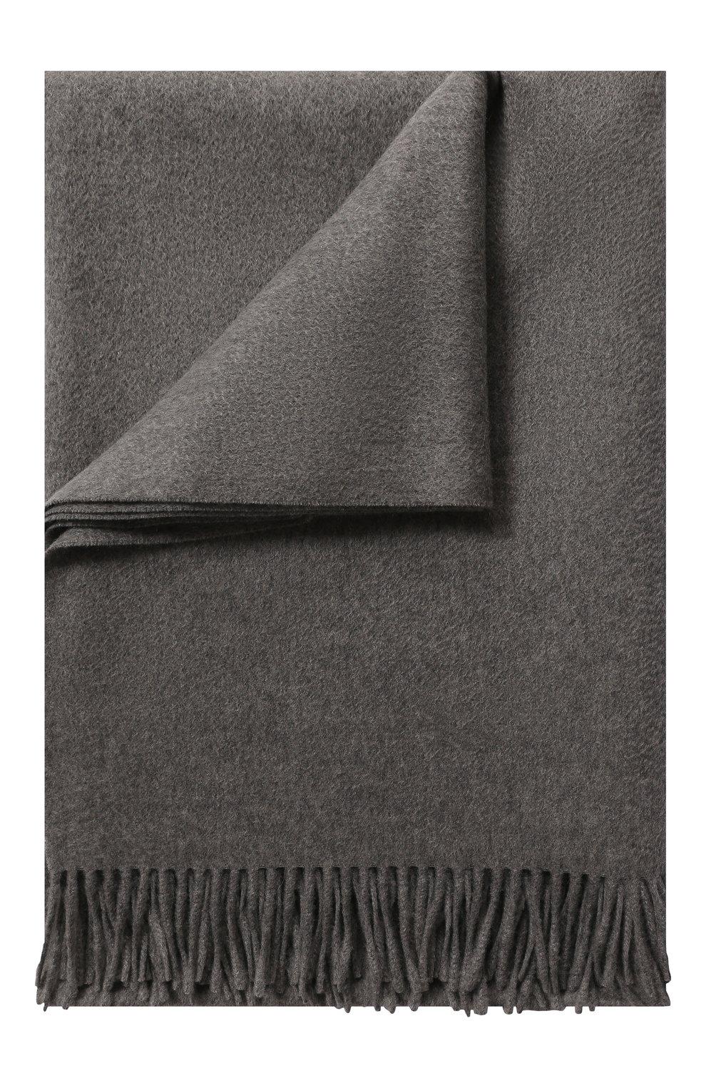 Мужского кашемировый плед LORO PIANA серого цвета, арт. FAA1158 | Фото 1