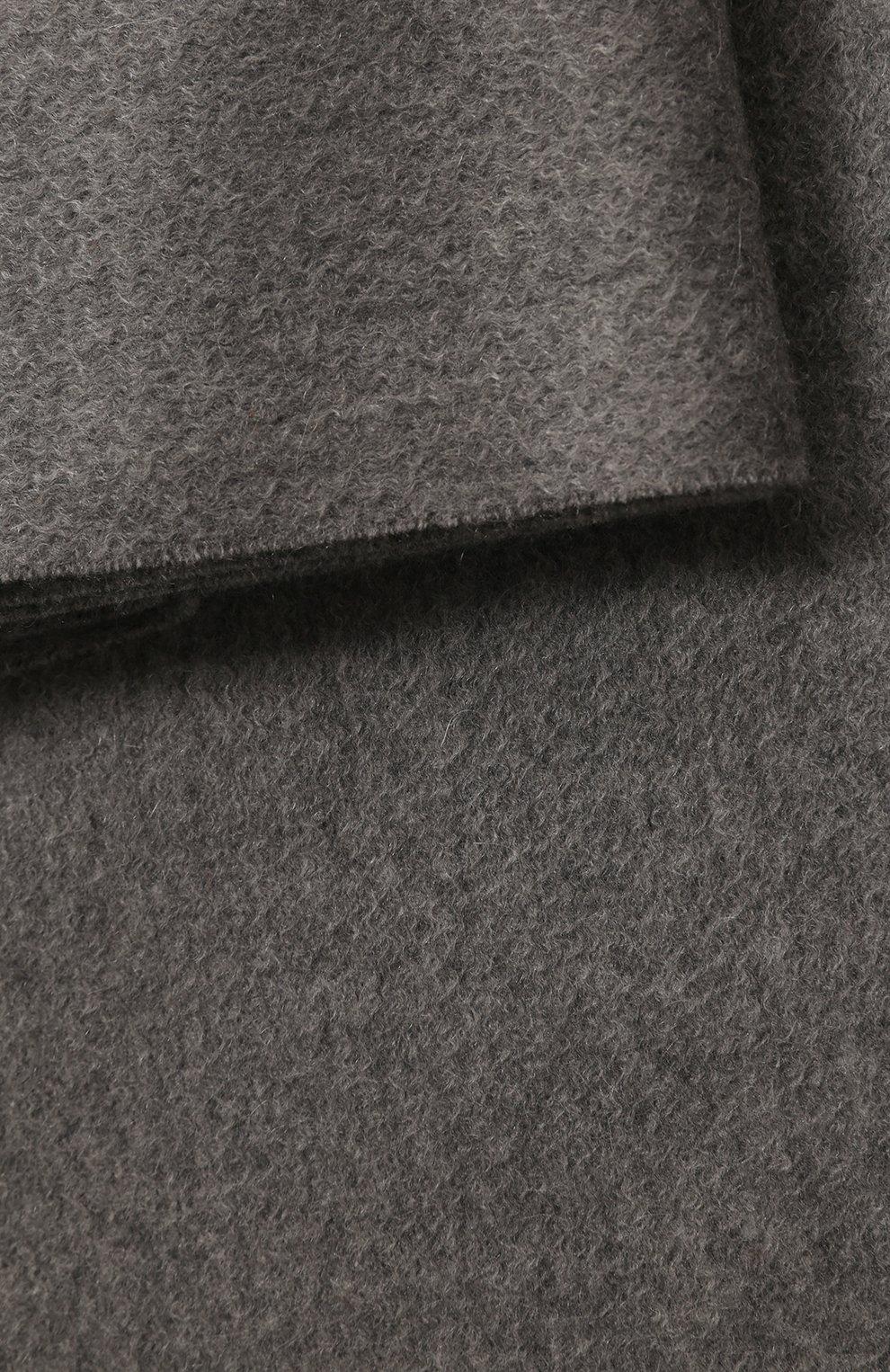 Мужского кашемировый плед LORO PIANA серого цвета, арт. FAA1158 | Фото 2