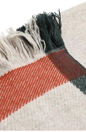 Мужского кашемировый плед с контрастной отделкой LORO PIANA серого цвета, арт. FAF7721 | Фото 2