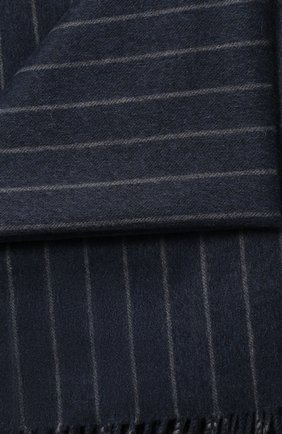 Мужского кашемировый плед LORO PIANA синего цвета, арт. FAF2648 | Фото 2