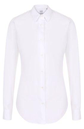 Женская приталенная хлопковая блуза sara roka, цвет белый, арт. M0NICA/FW17-01 в ЦУМ | Фото №1