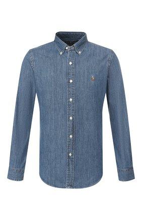 Мужская джинсовая рубашка POLO RALPH LAUREN синего цвета, арт. 710548539 | Фото 1