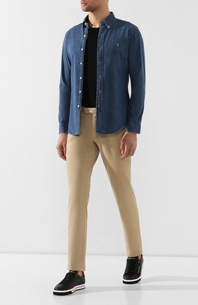 Мужская джинсовая рубашка POLO RALPH LAUREN синего цвета, арт. 710548539 | Фото 2