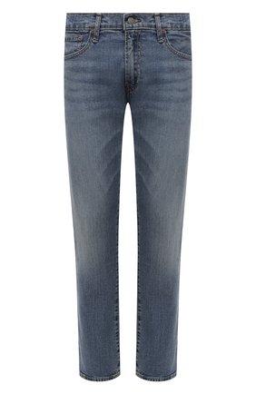 Мужские джинсы прямого кроя с потертостями POLO RALPH LAUREN синего цвета, арт. 710613952 | Фото 1 (Материал внешний: Хлопок; Длина (брюки, джинсы): Стандартные; Кросс-КТ: Деним; Силуэт М (брюки): Прямые)