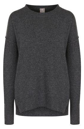 Кашемировый пуловер свободного кроя с круглым вырезом   Фото №1