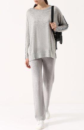 Однотонные кашемировые брюки Arlotta светло-серые | Фото №1