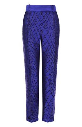 Шелковые брюки прямого кроя со стрелками | Фото №1