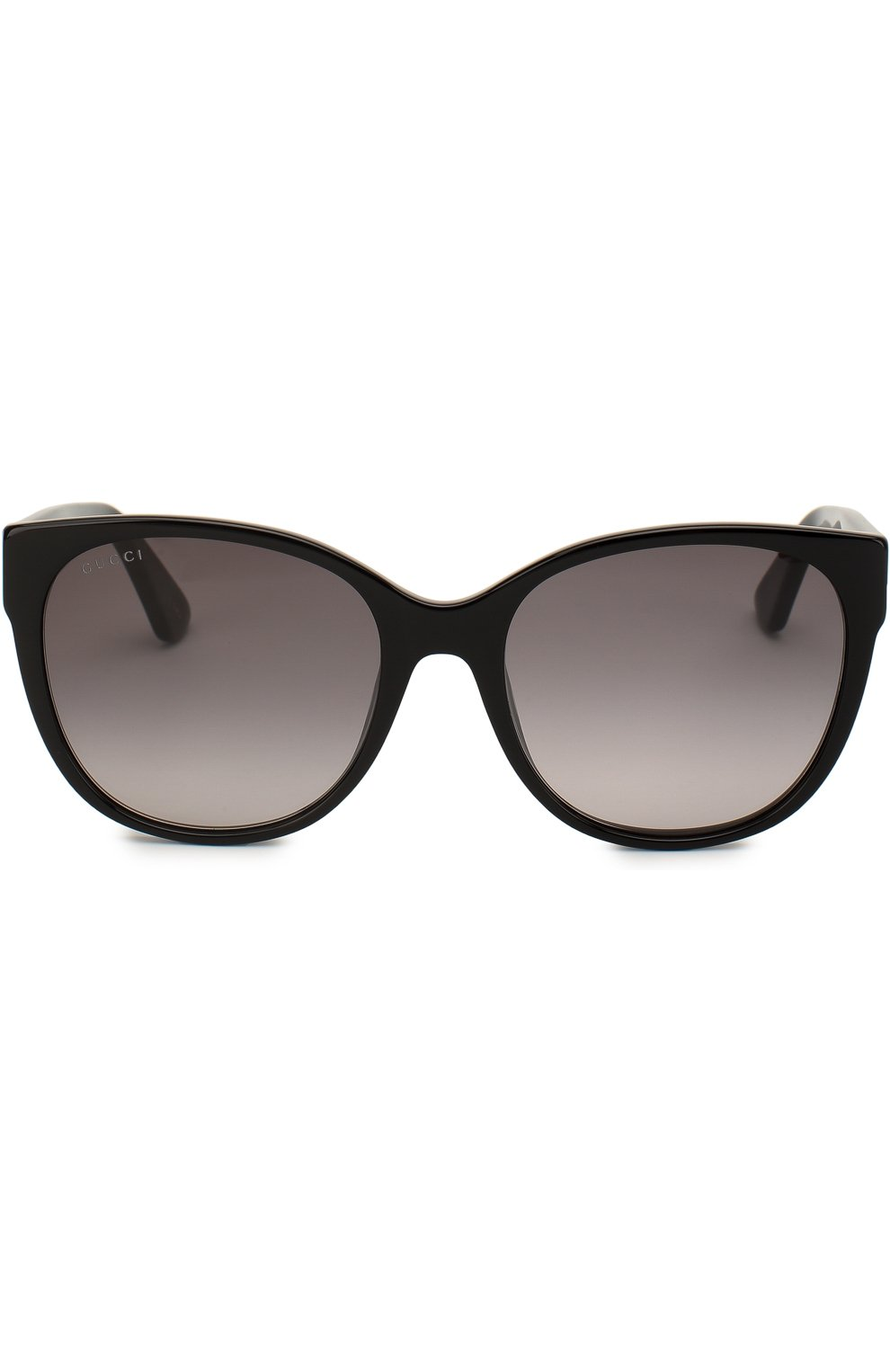 Женские солнцезащитные очки GUCCI черного цвета, арт. GG0097 001 | Фото 3