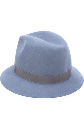 Женская фетровая шляпа ingrid с лентой LORO PIANA синего цвета, арт. FAF2117 | Фото 2 (Материал: Шерсть; Статус проверки: Проверено, Проверена категория)