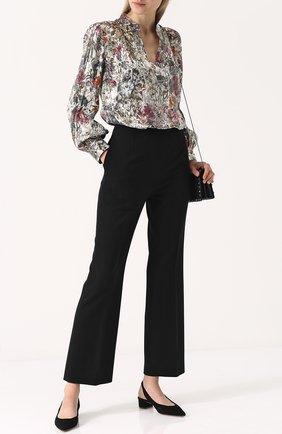 Женская шелковая блуза свободного кроя с принтом Tory Burch, цвет разноцветный, арт. 41095 в ЦУМ | Фото №1