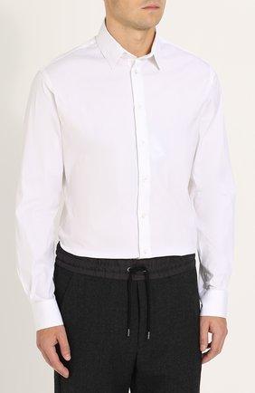 Мужская хлопковая сорочка с воротником кент GIORGIO ARMANI белого цвета, арт. ZSC97T/ZS36C | Фото 2