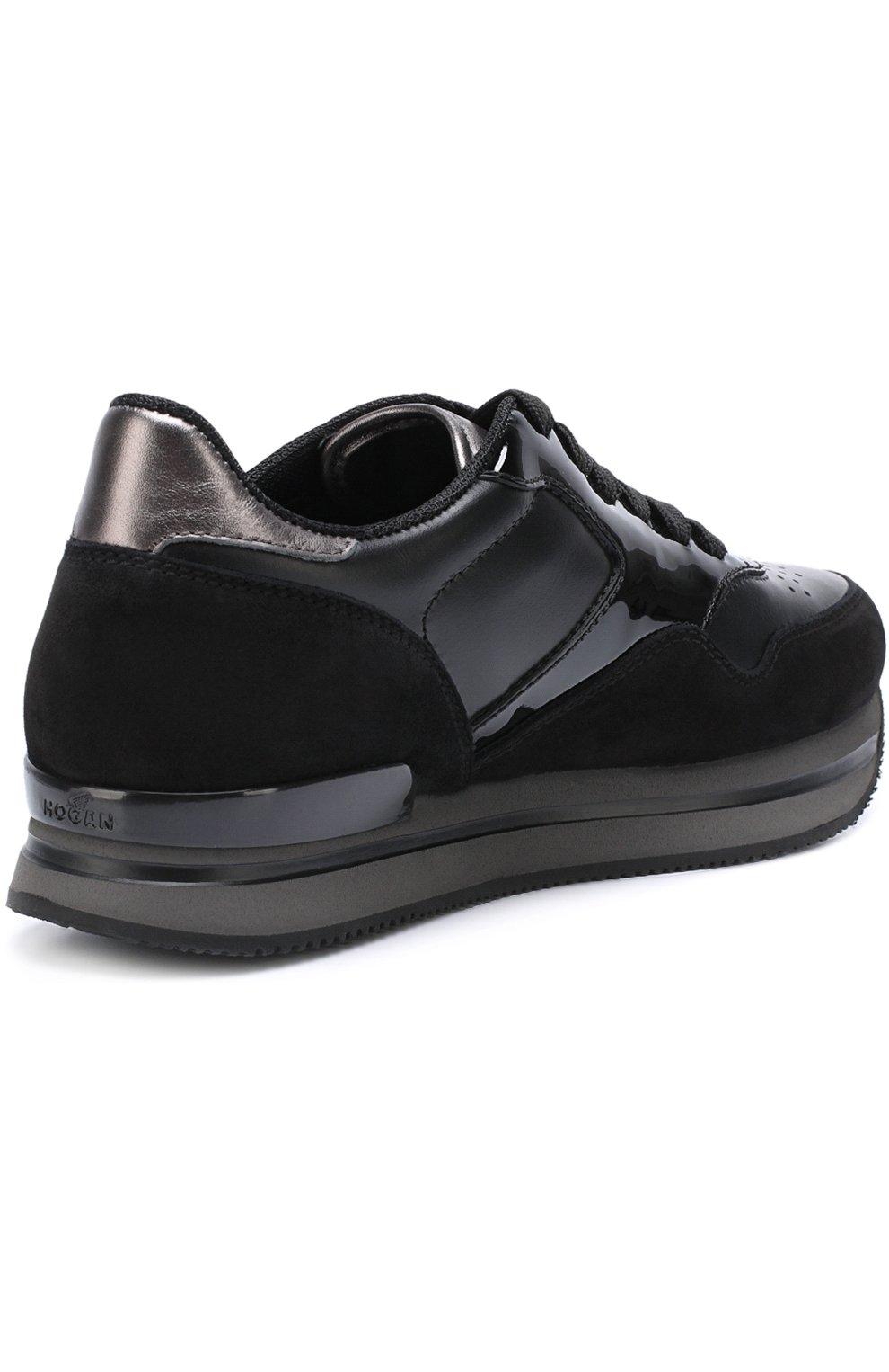 Комбинированные кроссовки на шнуровке   Фото №4