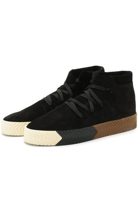 Высокие замшевые кеды Skate Shoes на шнуровке