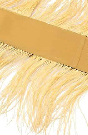 Пояс с декоративной отделкой sara roka желтый | Фото №1