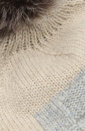 Детского кашемировая шапка с меховым помпоном LORO PIANA серого цвета, арт. FAG3898 | Фото 3 (Материал: Кашемир, Шерсть; Статус проверки: Проверено)