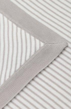 Детского хлопковое одеяло в полоску LORO PIANA белого цвета, арт. FAG3966 | Фото 2