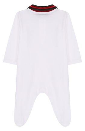 Хлопковая пижама с контрастным воротником | Фото №2