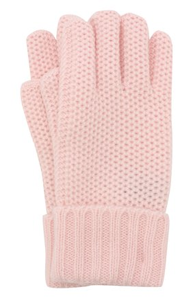 Детские кашемировые перчатки little crochet LORO PIANA розового цвета, арт. FAF8480 | Фото 1