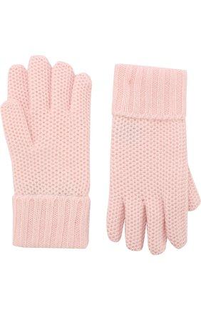 Детские кашемировые перчатки little crochet LORO PIANA розового цвета, арт. FAF8480 | Фото 2