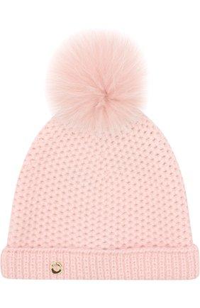 Детского шапка baby rougemont из кашемира LORO PIANA розового цвета, арт. FAF8494 | Фото 1