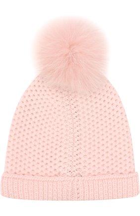 Детского шапка baby rougemont из кашемира LORO PIANA розового цвета, арт. FAF8494 | Фото 2
