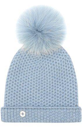 Детского шапка baby rougemont из кашемира LORO PIANA голубого цвета, арт. FAF8494 | Фото 1