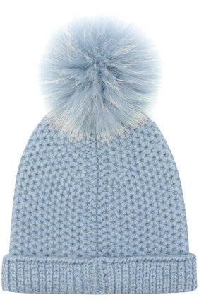 Детского шапка baby rougemont из кашемира LORO PIANA голубого цвета, арт. FAF8494 | Фото 2