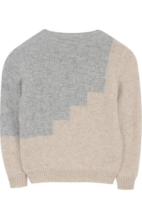 Кашемировый пуловер с фактурной отделкой   Фото №2
