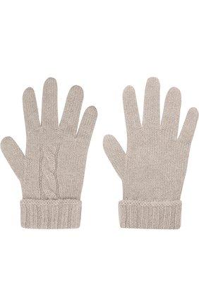 Детские кашемировые перчатки LORO PIANA светло-серого цвета, арт. FAG3895 | Фото 2