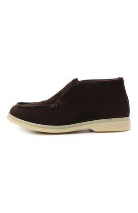 Детские замшевые ботинки LORO PIANA темно-коричневого цвета, арт. FAD6916 | Фото 2