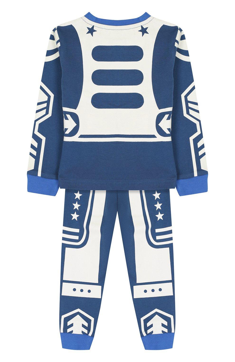 Хлопковая пижама с принтом   Фото №2