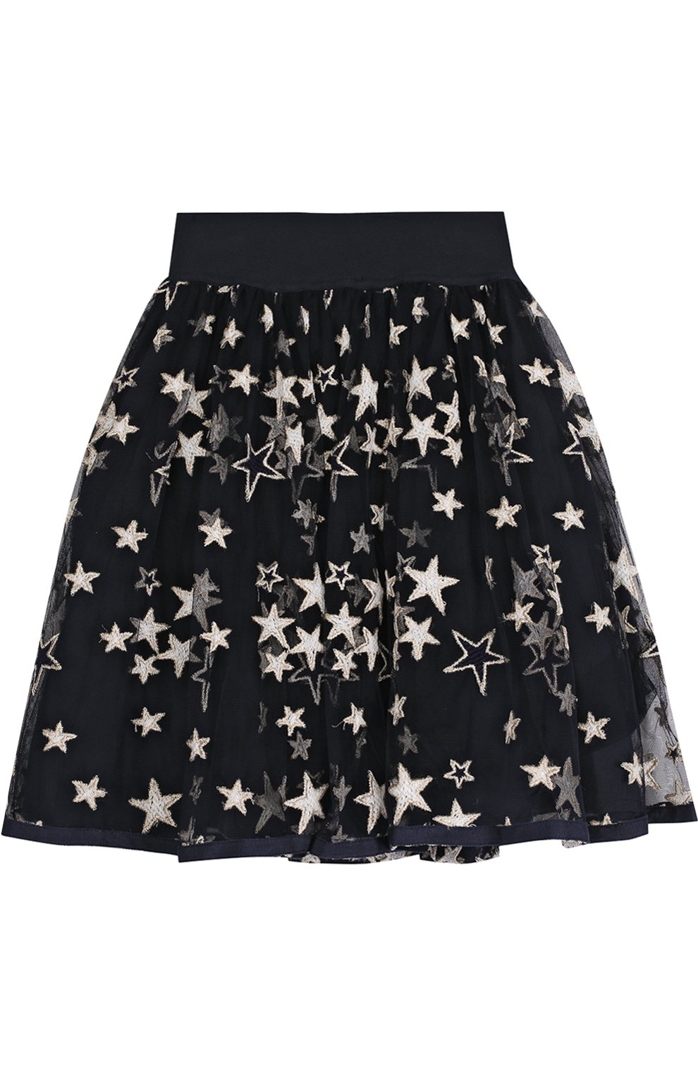 Многослойная юбка с принтом в виде звезд | Фото №1