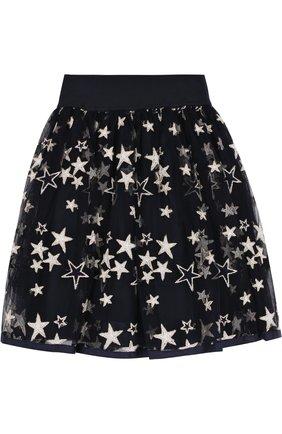 Многослойная юбка с принтом в виде звезд | Фото №2