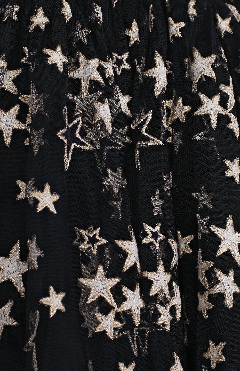 Многослойная юбка с принтом в виде звезд | Фото №3