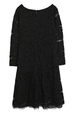 Детское кружевное платье с оборкой Jakioo черного цвета | Фото №1