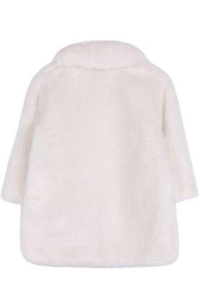 Детская шуба из эко-меха MONNALISA белого цвета, арт. 170121 | Фото 2