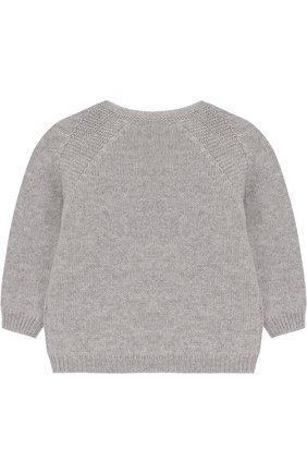 Детский кашемировый пуловер LORO PIANA светло-серого цвета, арт. FAG3935 | Фото 2