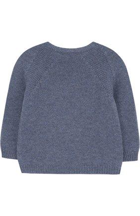 Детский кашемировый пуловер LORO PIANA синего цвета, арт. FAG3935 | Фото 2