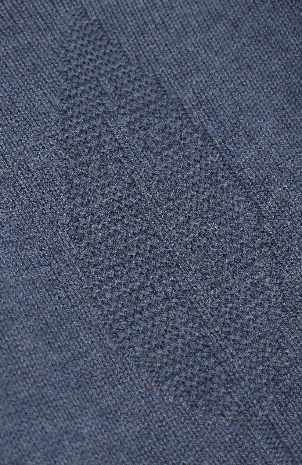 Детский кашемировый пуловер LORO PIANA синего цвета, арт. FAG3935 | Фото 3