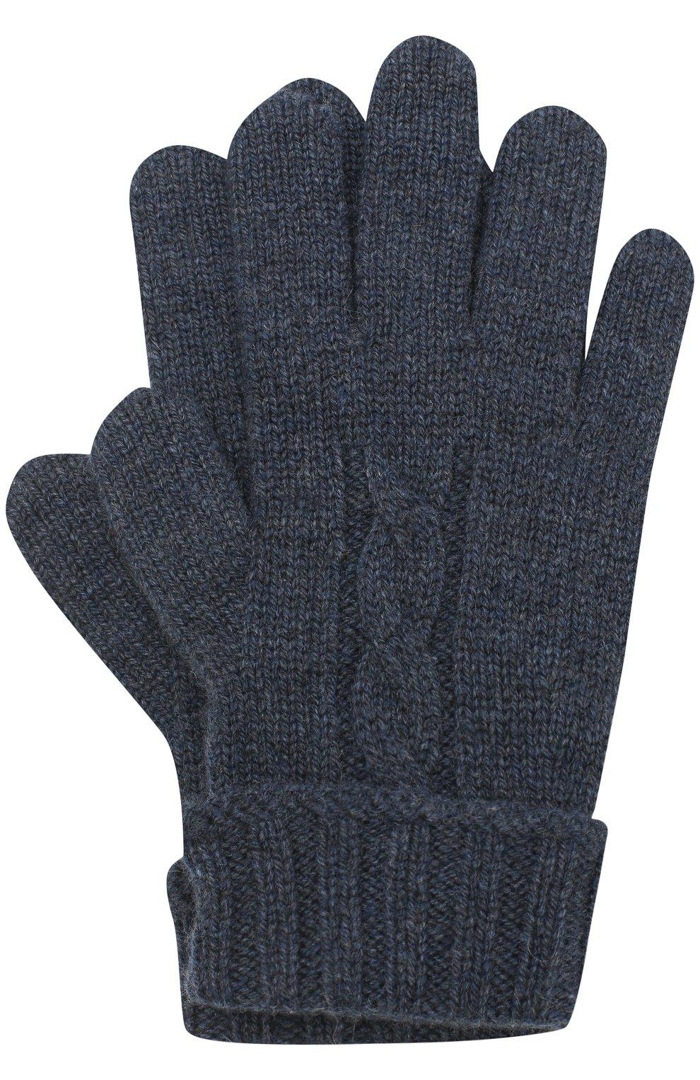 Детские кашемировые перчатки LORO PIANA темно-синего цвета, арт. FAG3895 | Фото 1
