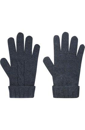 Детские кашемировые перчатки LORO PIANA темно-синего цвета, арт. FAG3895 | Фото 2