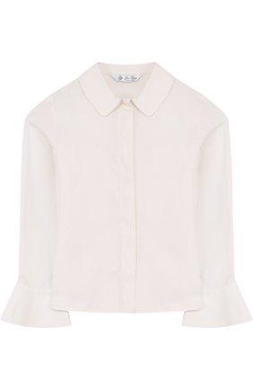 Хлопковая блуза с оборками | Фото №1