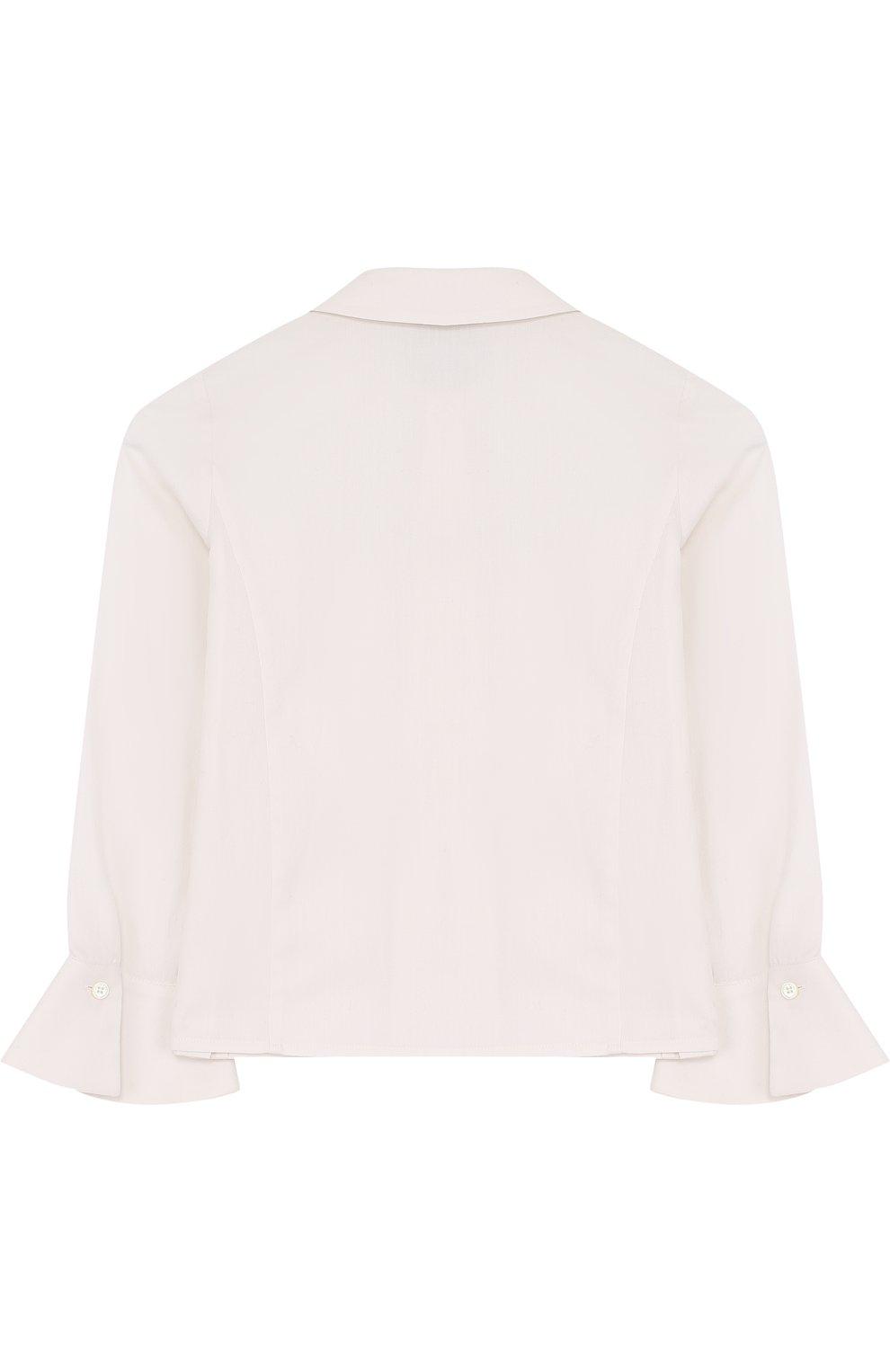 Хлопковая блуза с оборками   Фото №2