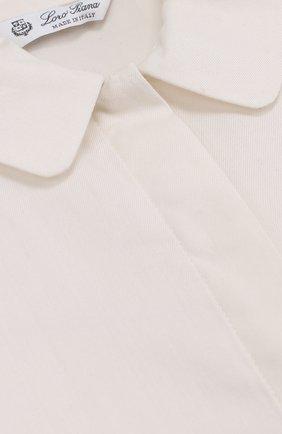 Хлопковая блуза с оборками   Фото №3